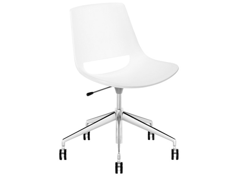 Chair with 5-spoke base with casters PALM | Chair with 5-spoke base by arper