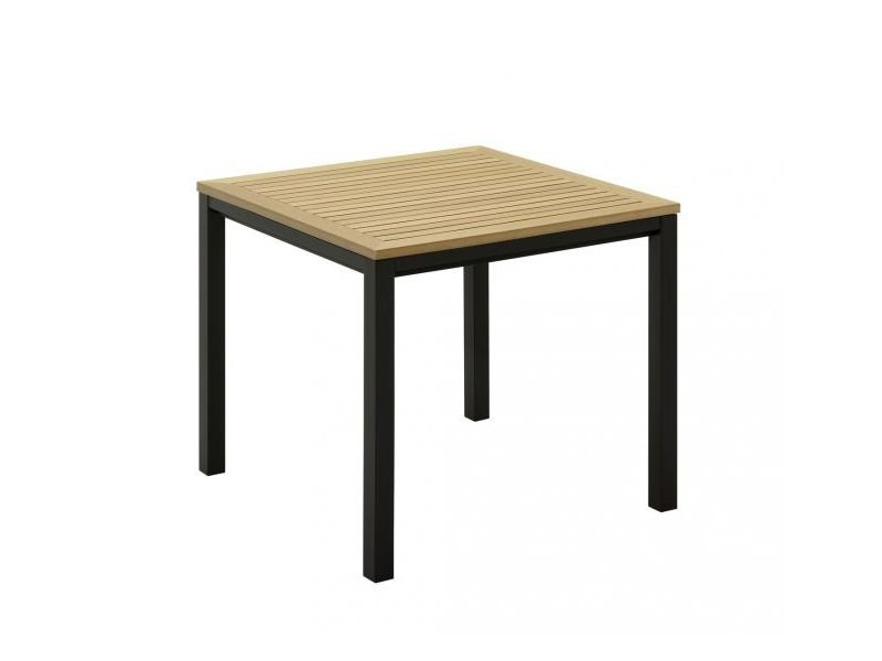 Square synthetic material garden table
