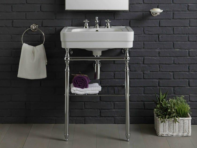 Console rectangular ceramic washbasin 960 | Console washbasin - BLEU PROVENCE