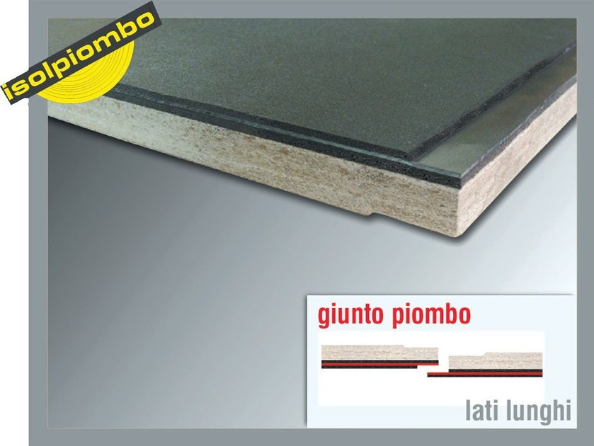 Sound insulation and sound absorbing felt with lead-laminate ACUSYSTEM N - Thermak by MATCO