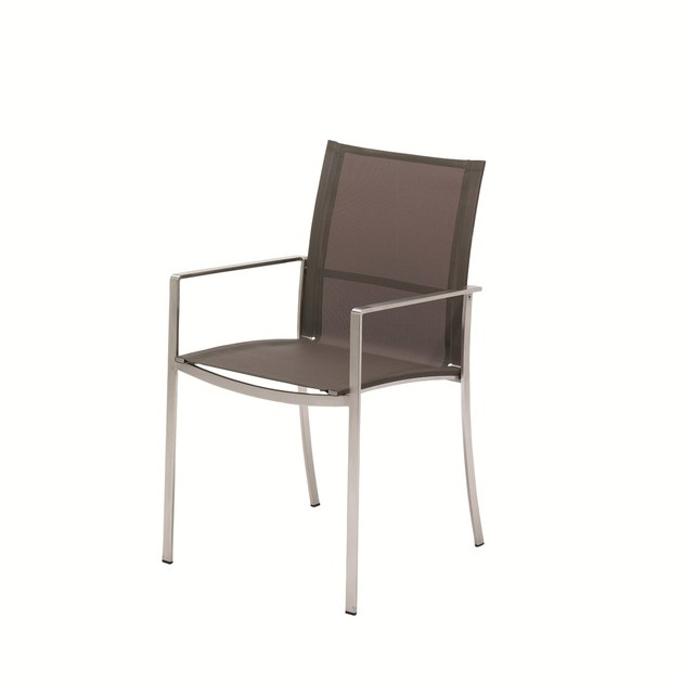 Stackable fabric garden chair with armrests FUSION | Garden chair with armrests by Gloster