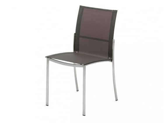 Stackable stainless steel garden chair