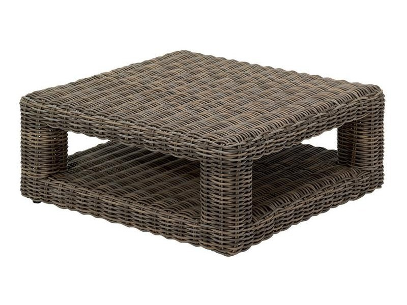 Square wicker garden side table HAVANA | Wicker garden side table - Gloster