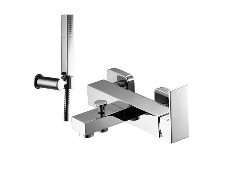 Bathtub mixer with hand shower KUBIK by Gattoni Rubinetteria