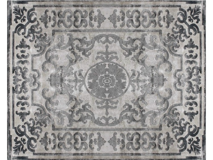 Handmade silk rug POMPADOUR PEARL by EDITION BOUGAINVILLE