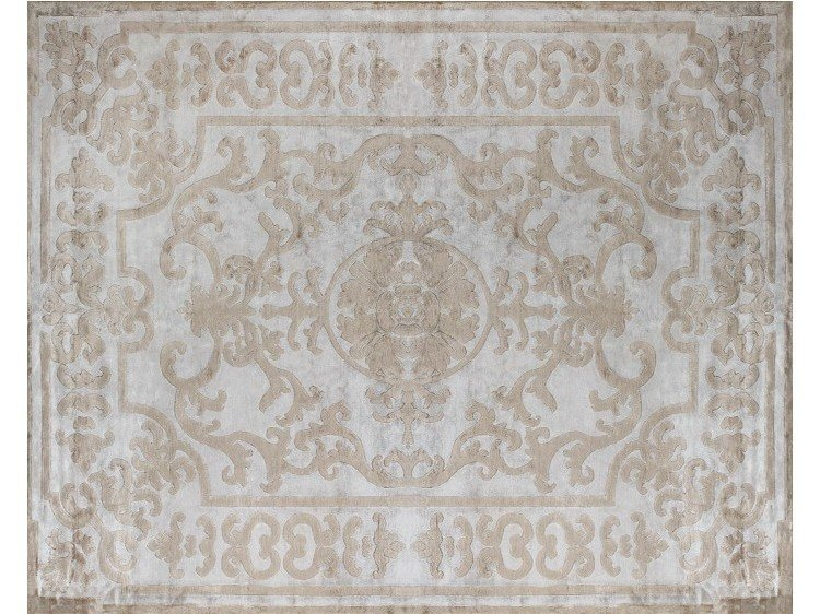 Handmade silk rug POMPADOUR SILVER - EDITION BOUGAINVILLE