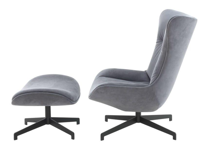 poltrona girevole imbottita amy roset italia. Black Bedroom Furniture Sets. Home Design Ideas