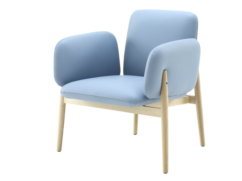 Upholstered armchair with armrests TORII - ROSET ITALIA
