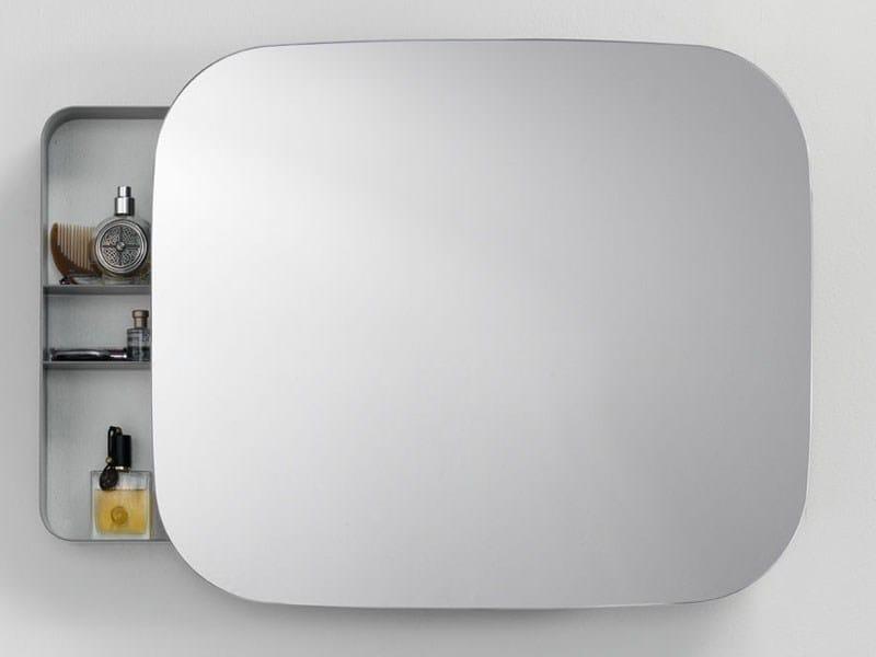 ray mirror specchio con contenitore per bagno