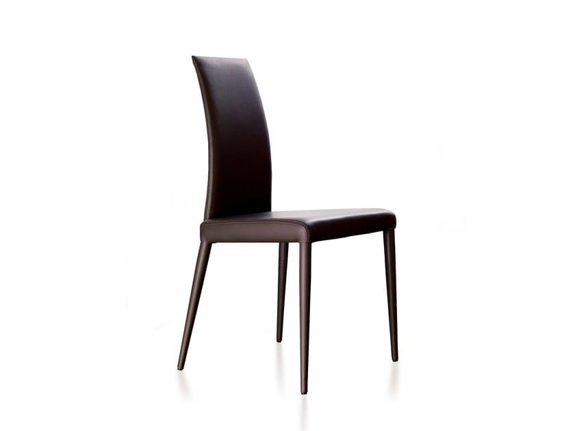 Chaise en cuir oceania by ozzio design design giuliano for Chaises en cuir design