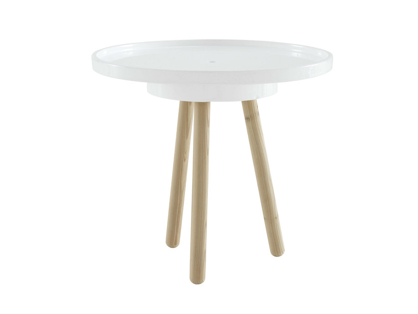 Round garden side table