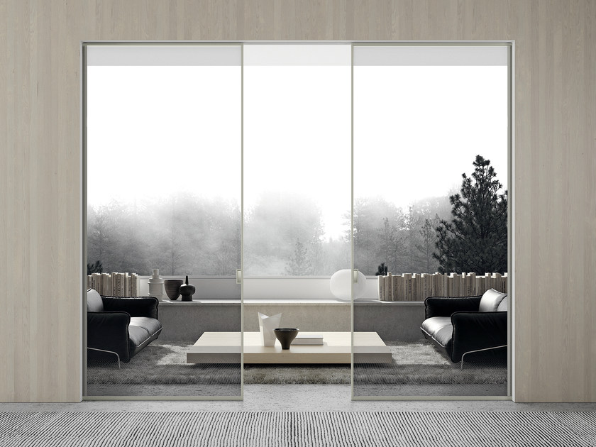 Crystal pocket sliding door MODO | Pocket sliding door by MOVI ITALIA