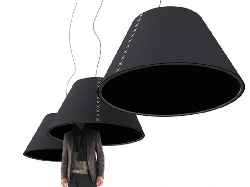 Felt pendant lamp