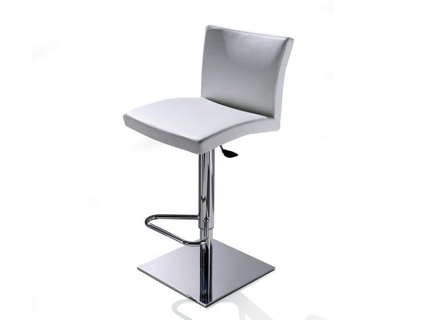 Upholstered leather counter stool SOFT - Ozzio Italia