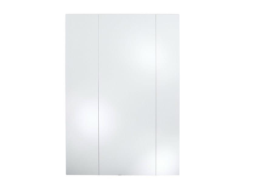 Rectangular wall-mounted mirror