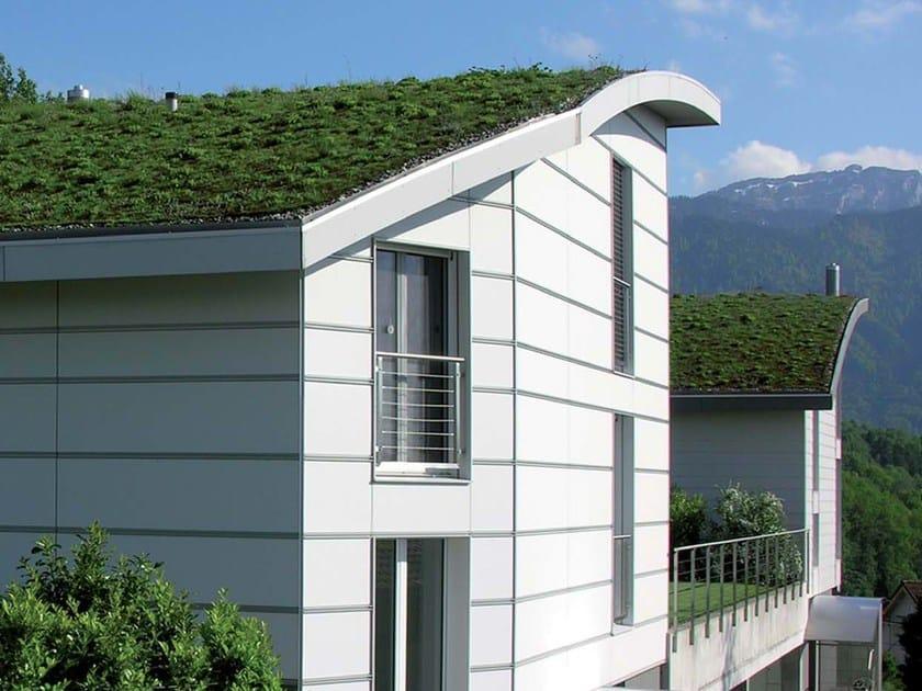 Roof garden system GREEN by SWISSPEARL Italia