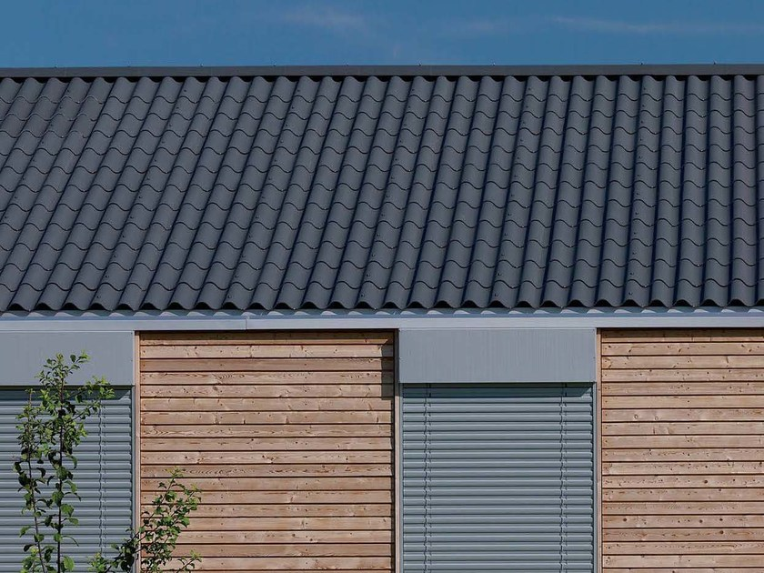 Roofing panel and sheet in fibre cement STRUCTA CLASSICA by SWISSPEARL Italia