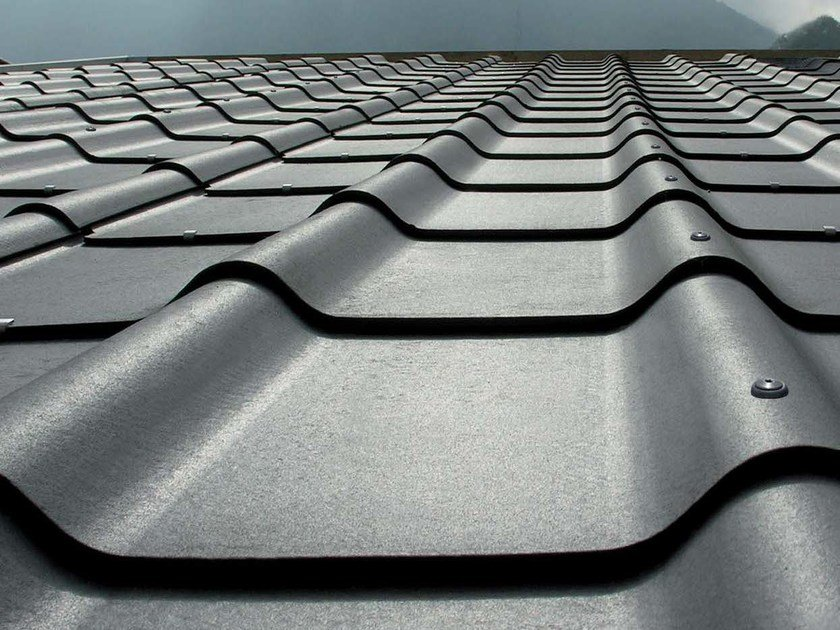 Roofing panel and sheet in fibre cement STRUCTA CASA by SWISSPEARL Italia