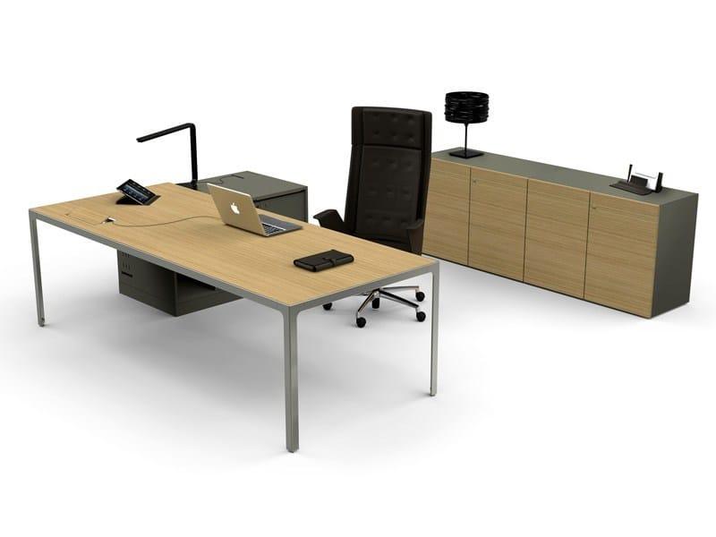 Rectangular workstation desk MORE | Workstation desk by ESTEL GROUP