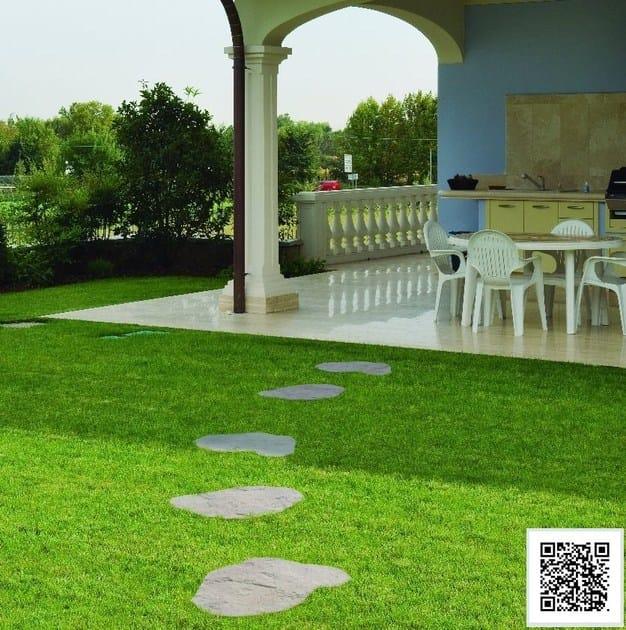 Camminamento in pietra ricostruita send 48 sas italia - Camminamento pietra giardino ...