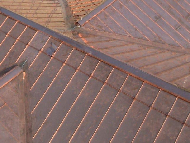 Metal sheet and panel for roof Copertura aggraffata - Unimetal