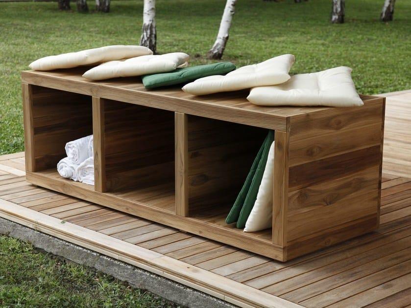 Wooden garden cabinet TURTLE.02 - MENOTTI SPECCHIA PROJECT