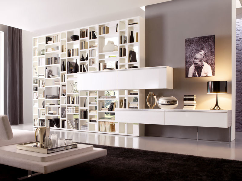 Sectional bookcase CROSSING - MisuraEmme