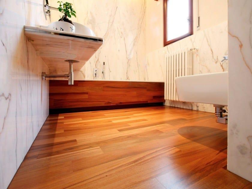 Wooden wall floor tiles blues 11 by menotti specchia project - Parquet pont bateau salle de bain ...