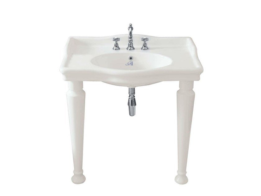 Console ceramic washbasin HILLINGDON RETRÒ 860 | Console washbasin - GENTRY HOME