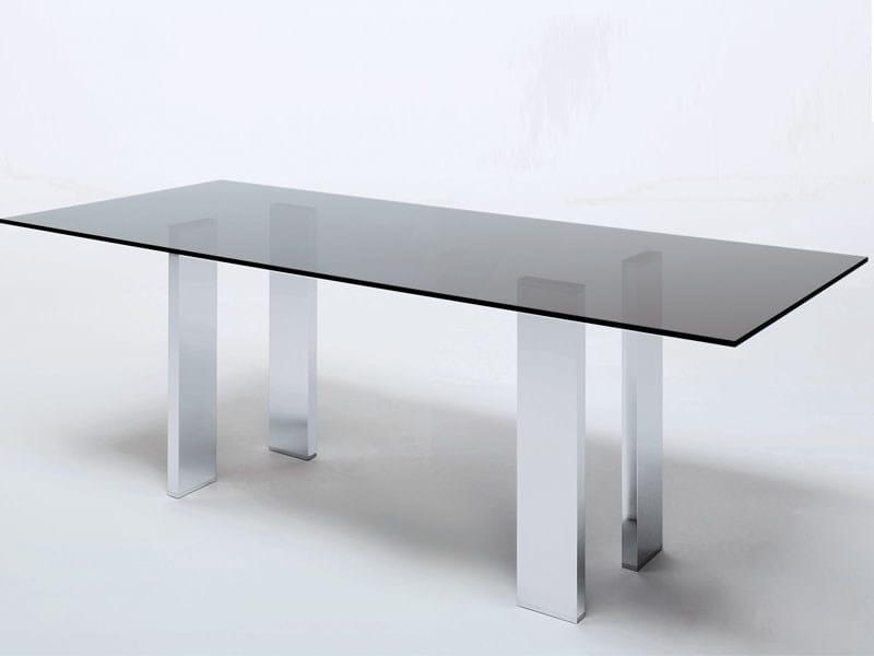 Rectangular crystal table TAUL by MisuraEmme