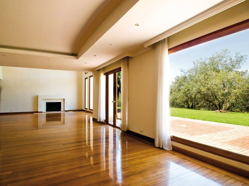 Aluminium and wood casement window EKU® WOODART TT by PROFILATI