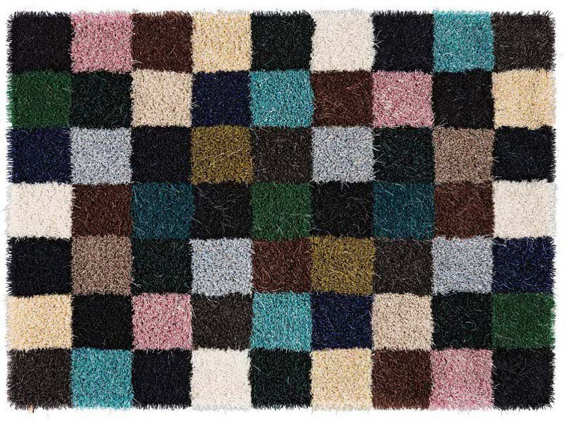 Long pile patchwork rug MOSS POTPURRI - Kasthall