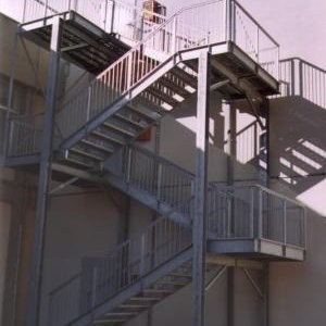 Metal fire escape staircase SYSTEM - SO.C.E.T.