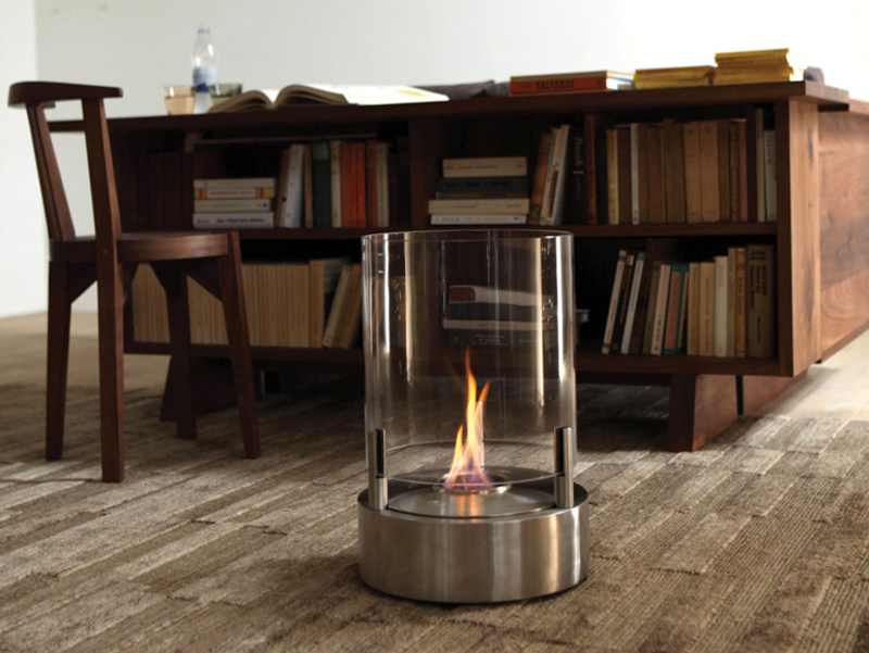 Outdoor freestanding bioethanol fireplace CYL by EcoSmart Fire
