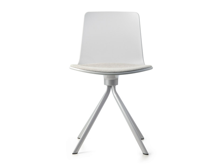 Swivel chair on trestle base