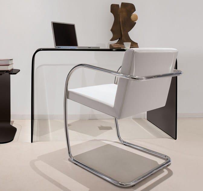 Scrivania in vetro design ACCADEMIA - Italy Dream Design