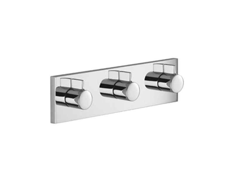 3 hole chrome-plated shower tap with plate