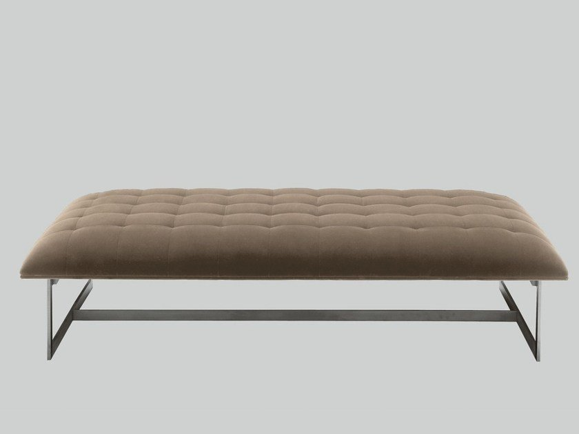 Upholstered fabric bench EDWARD | Fabric bench - Poliform