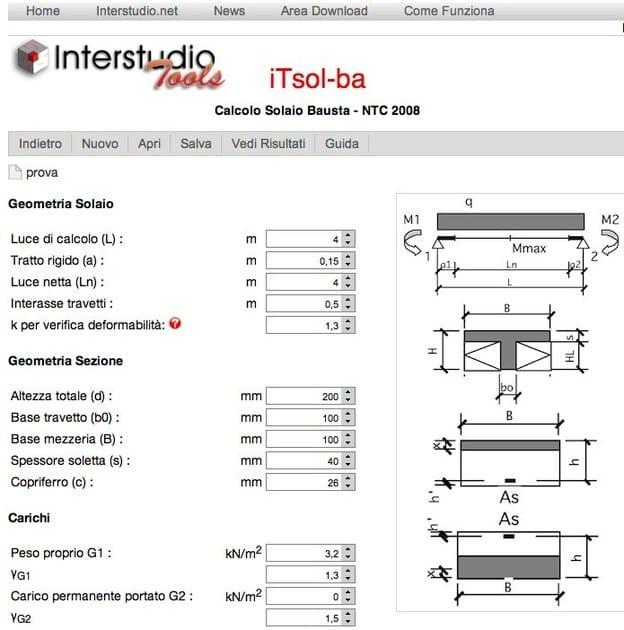 Slab calculation iTsol-ba - INTERSTUDIO