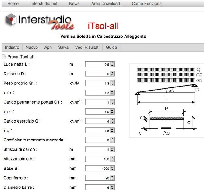 Slab calculation iTsol-all by INTERSTUDIO