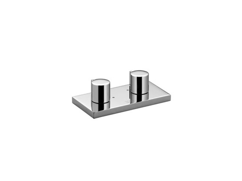 2 hole chrome-plated sink tap with plate