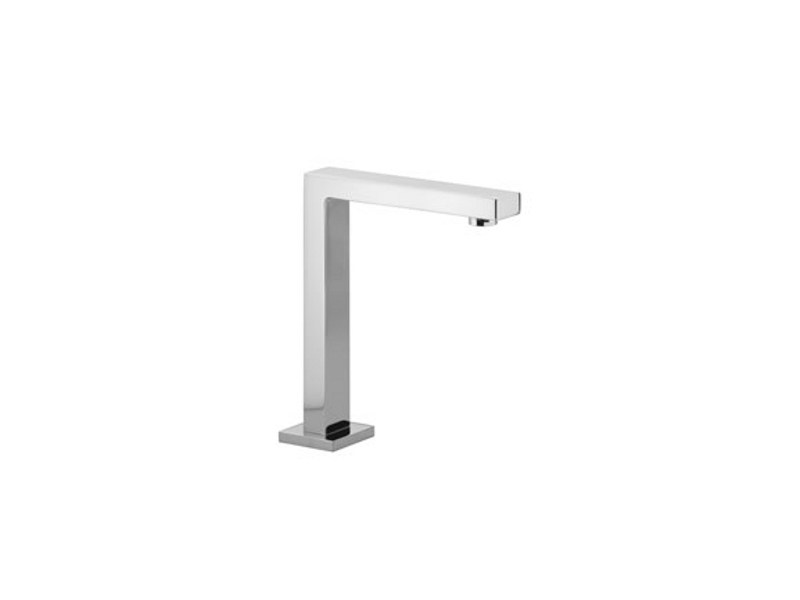 Chrome-plated counter top sink spout