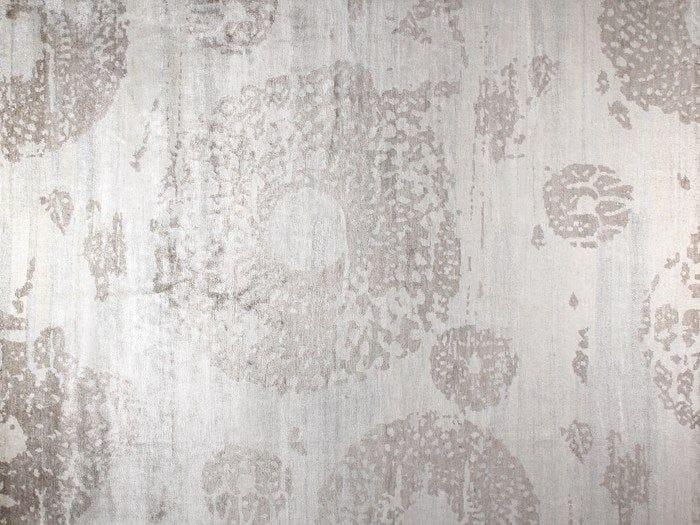 Handmade rectangular rug MOON SILVER - EDITION BOUGAINVILLE