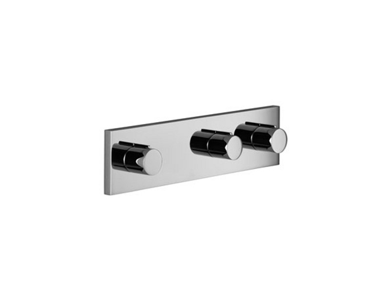 Wall-mounted chrome-plated bathtub tap with diverter