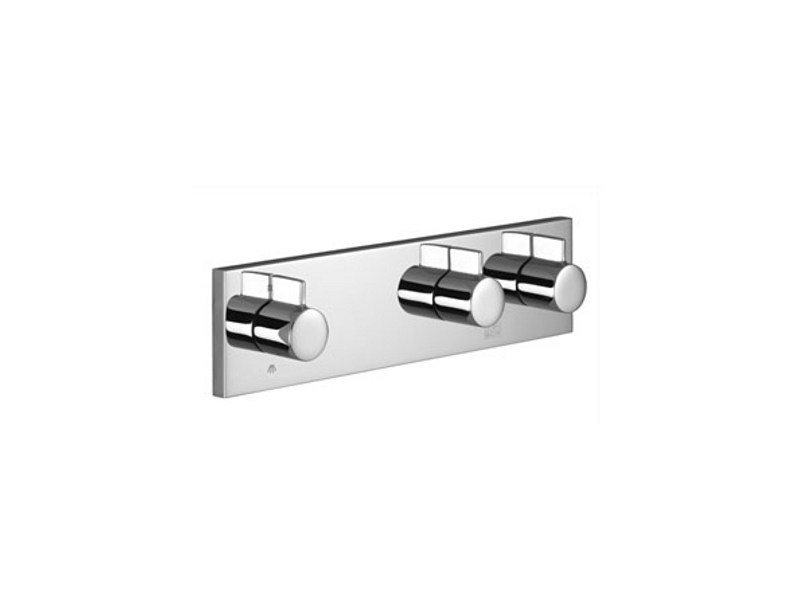Wall-mounted chrome-plated bathtub tap with diverter SYMETRICS by Dornbracht