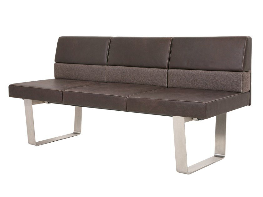 Modular leather bench BENCH PLUS - KFF