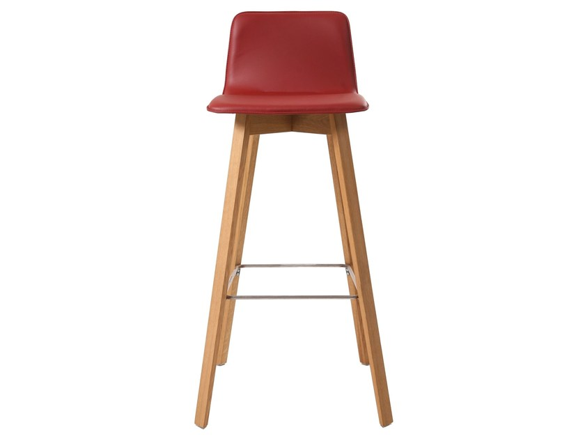 High leather barstool MAVERICK | Leather stool by KFF
