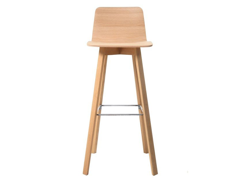 High wooden barstool