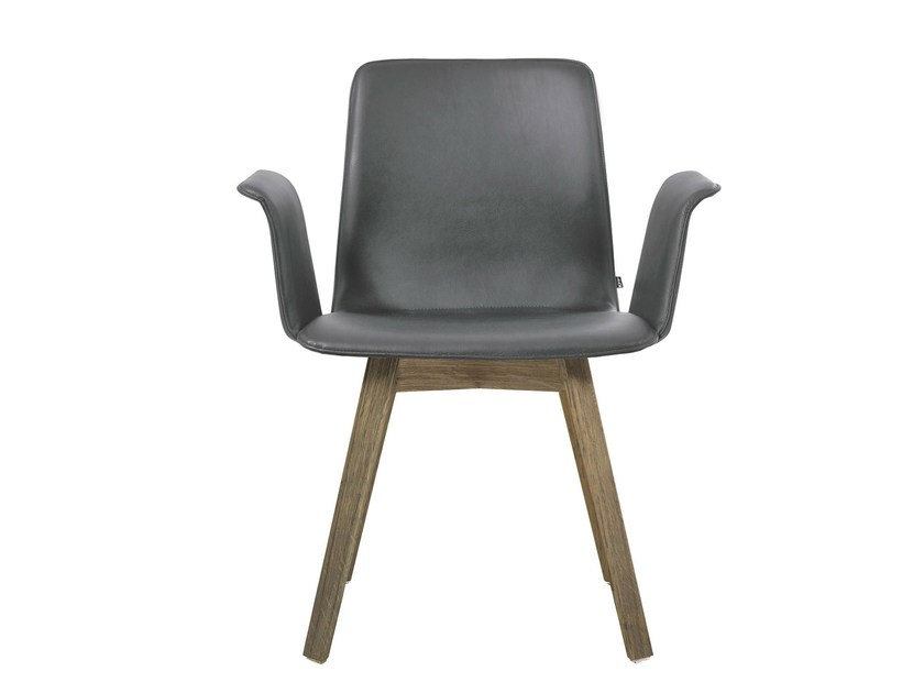 Leather chair with armrests MAVERICK | Chair with armrests - KFF