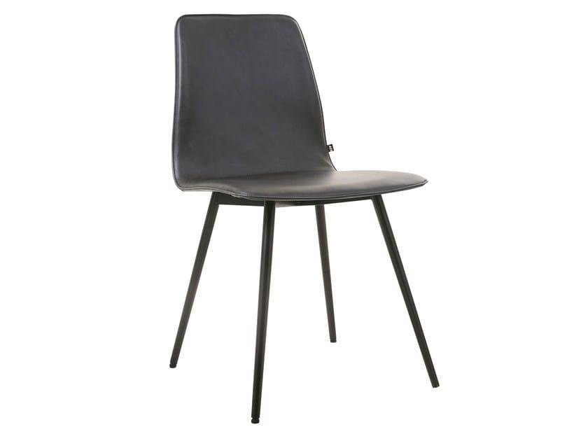 maverick konus stuhl aus leder by kff design birgit hoffmann. Black Bedroom Furniture Sets. Home Design Ideas